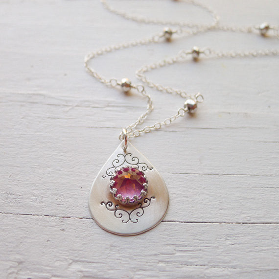 Teardrop Pendant Necklace {As Seen on The Vampire Diaries}