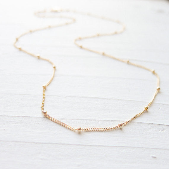 Satellite Chain 14K Gold Fill Beaded Chain