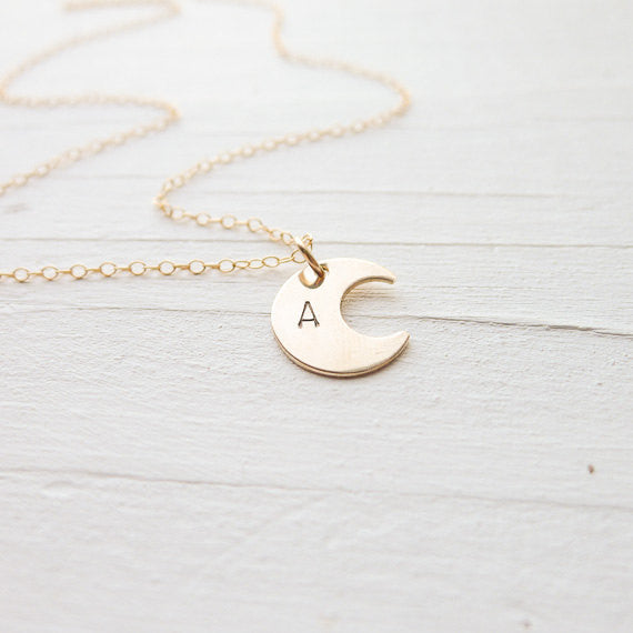 Dainty Moon Necklace {Silver, Gold, or Rose Gold}