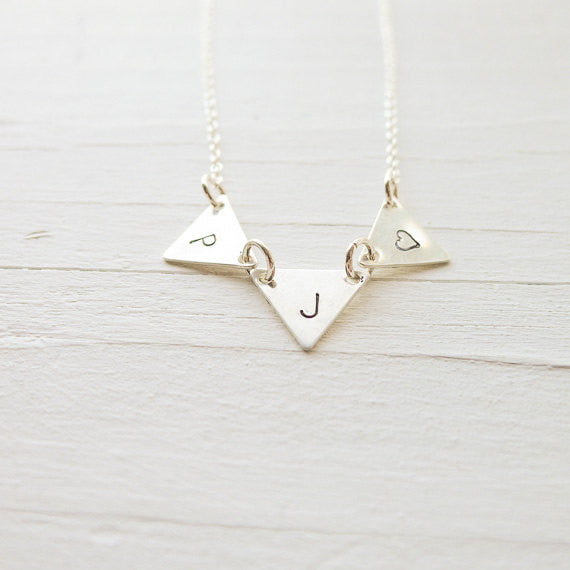 Bunting Necklace in Silver