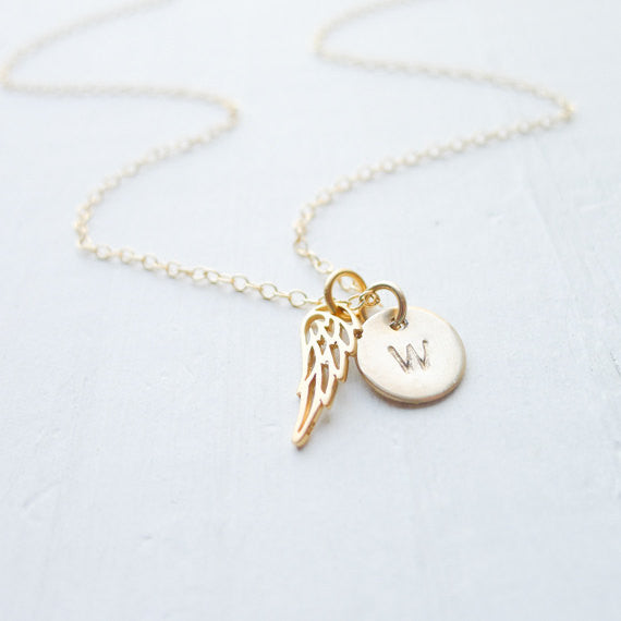 Angel Wing Necklace {Silver or Gold}