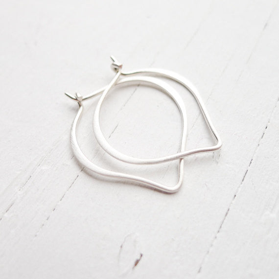 Sterling Silver Onion Hoops