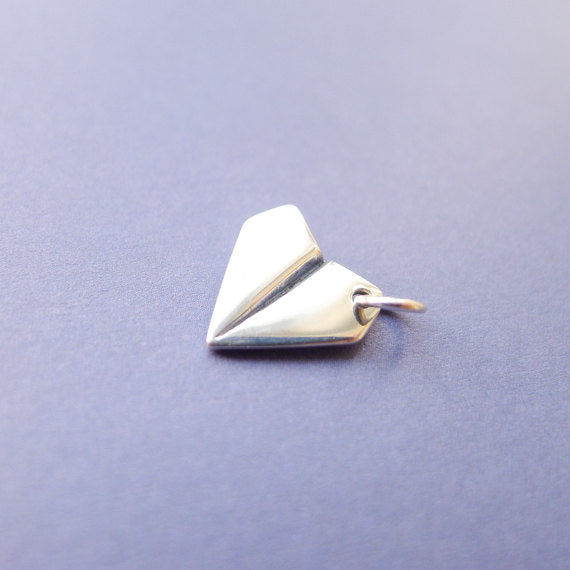 Paper Airplane Charm