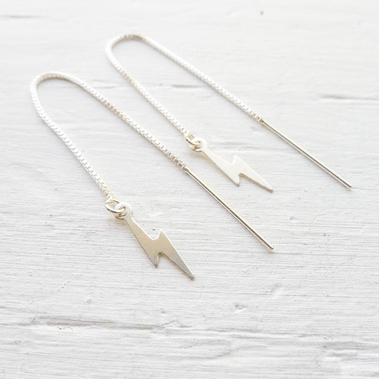 Lightning Thread Earrings