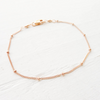 Dainty Beaded Bracelet or Anklet {Silver, Gold, or Rose Gold}