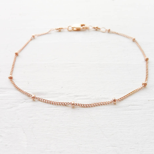 jewelry chain bella gold double pin layered anklet by dainty annika