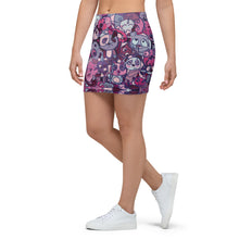 Load image into Gallery viewer, Purple Panda Mini Skirt