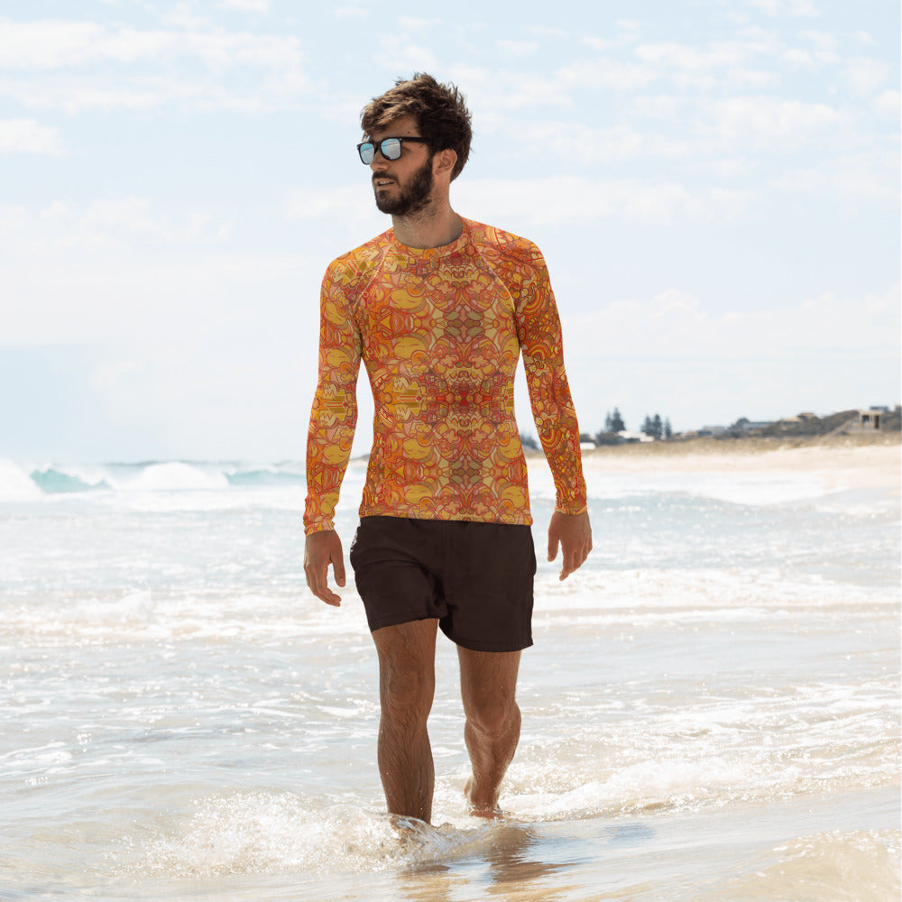 Orange Rash Guard
