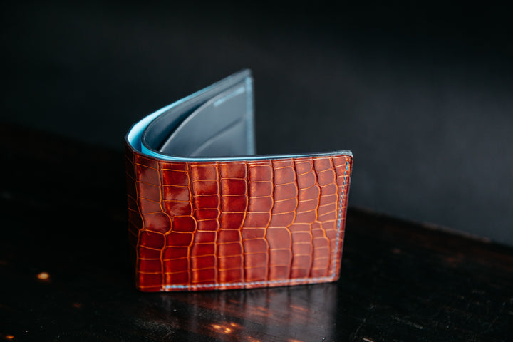 Introducing Loyal Bespoke and the Peanut Glaze Alligator Bifold