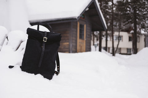 Loyal Stricklin Black Waxed Canvas Rucksack