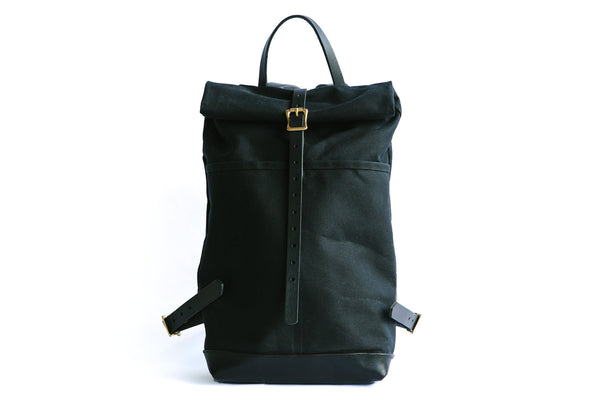 Ruck Sack - Black Waxed Canvas