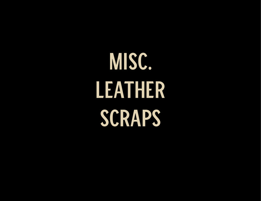 Leather Scraps - 5 lb -Miscellaneous Leathers - NO FREE SHIPPING ON THIS ITEM