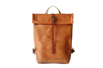 Leather Ruck Sack - Tobacco