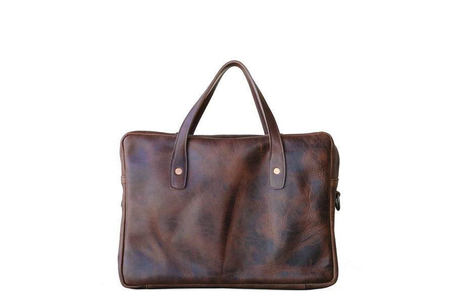 Briefcase - Brown Nut Derby