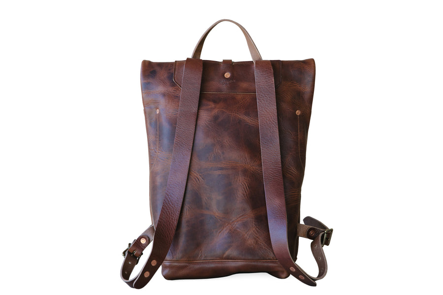 Leather Ruck Sack - Brown Nut Derby