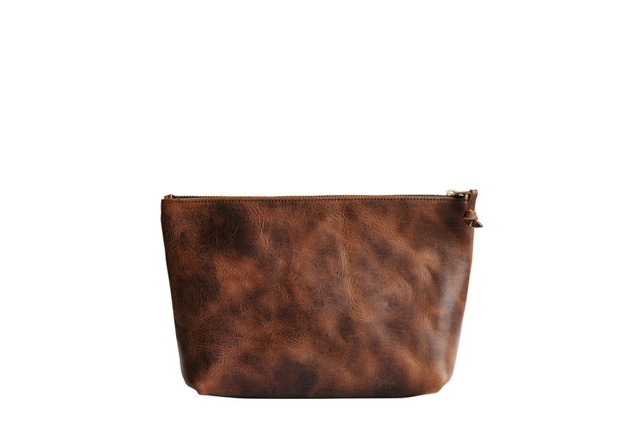 Dylan Zip Pouch - Brown Nut Derby