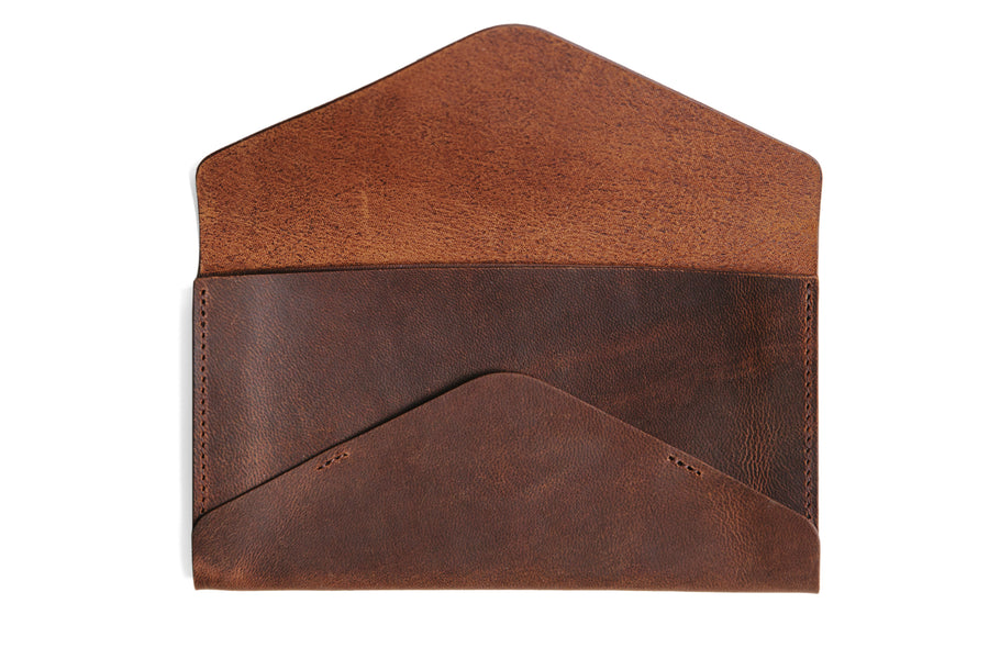 Willa Wallet - Walnut Chévre