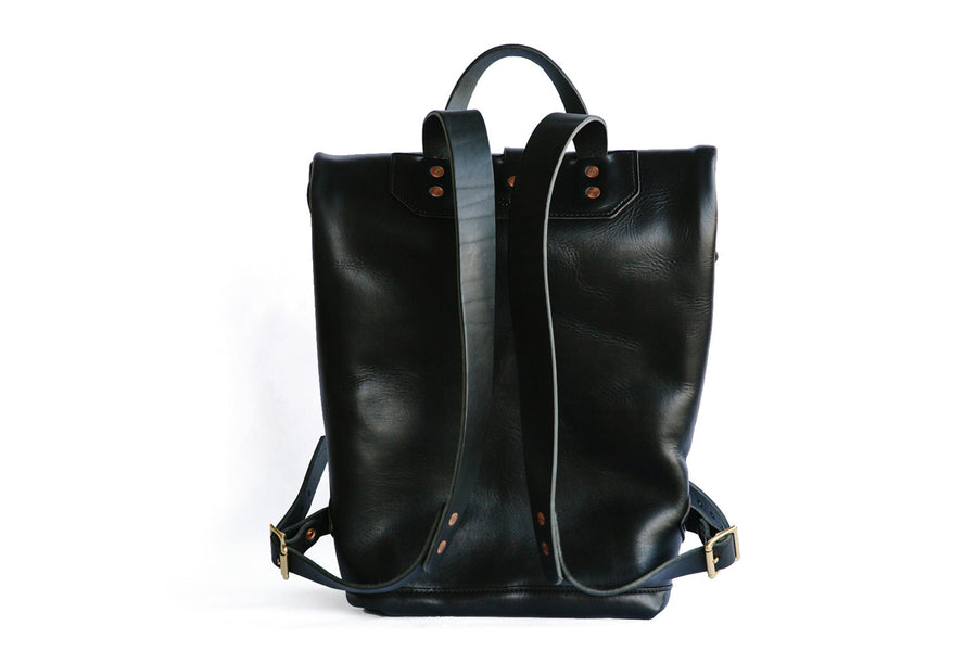 Leather Ruck Sack - Black