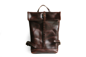 Leather Ruck Sack - Brown