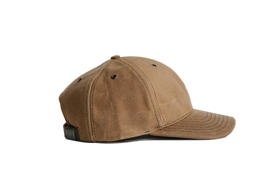 Waxed Canvas Baseball Hat - Brush Brown