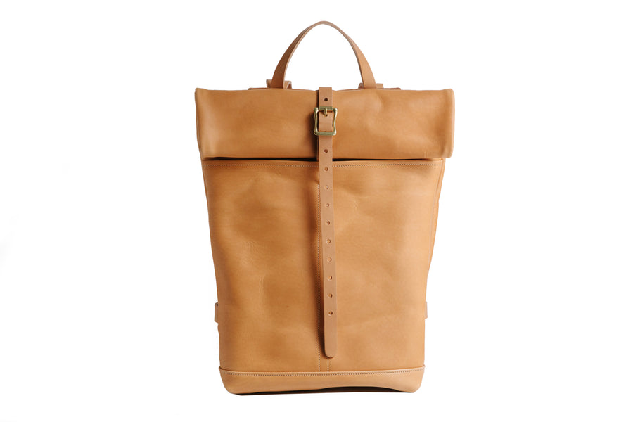 Leather Ruck Sack - Camello