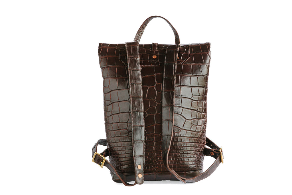 Ruck Sack -Genuine American Alligator Leather