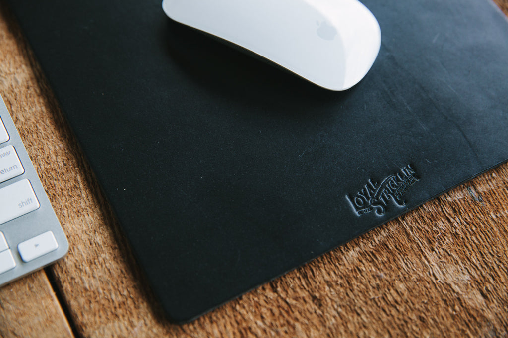 Leather Mousepad - Black