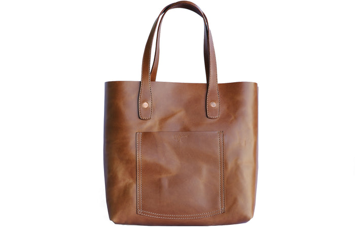 Julia Tote - Italian Buttero Veg Tanned Leather