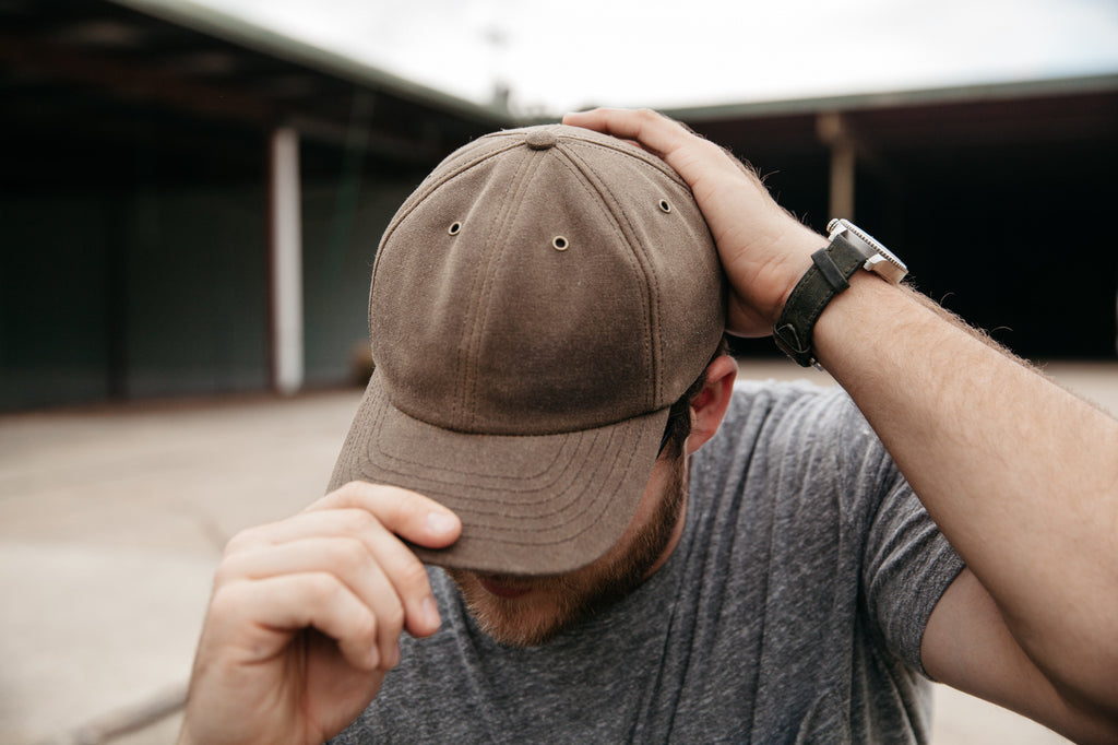 Waxed Canvas Baseball Hat - Moss