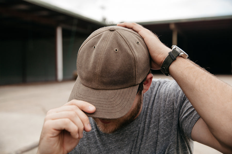 Waxed Canvas Baseball Hat - Moss - Preorder