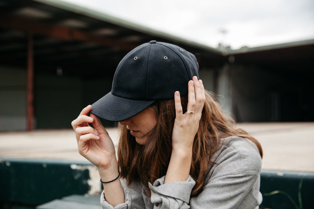 Waxed Canvas Baseball Hat - Black
