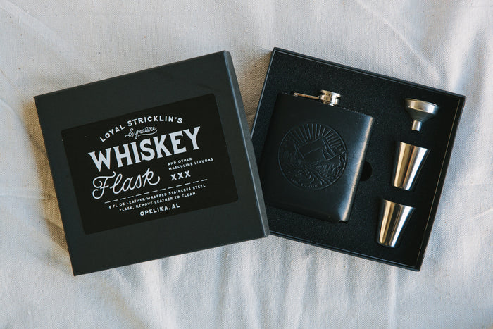 Signature Whiskey Flask - Black