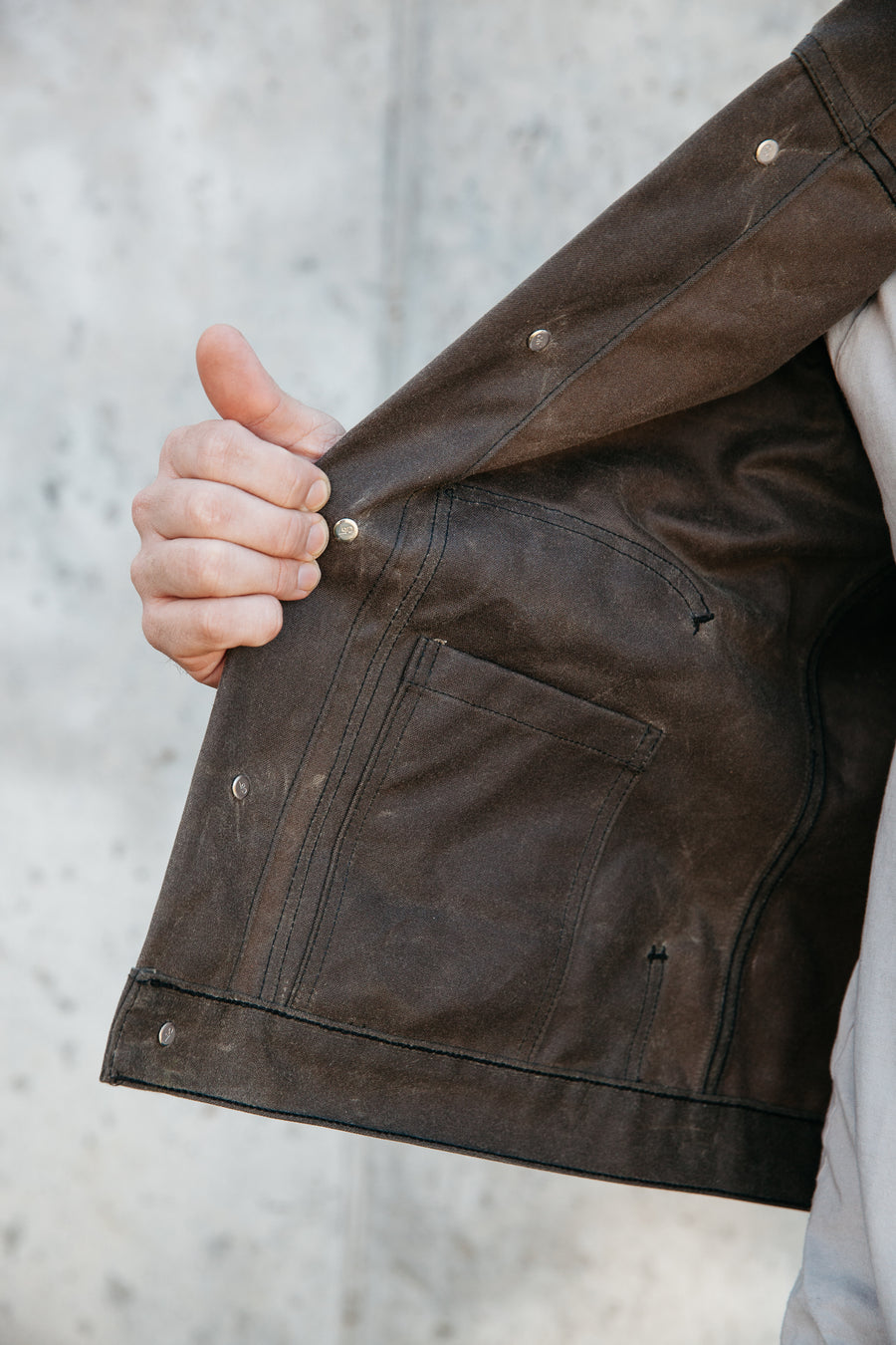 Wayman Jacket - 17oz Brown Waxed - PREORDER - Ships Feb. 2021