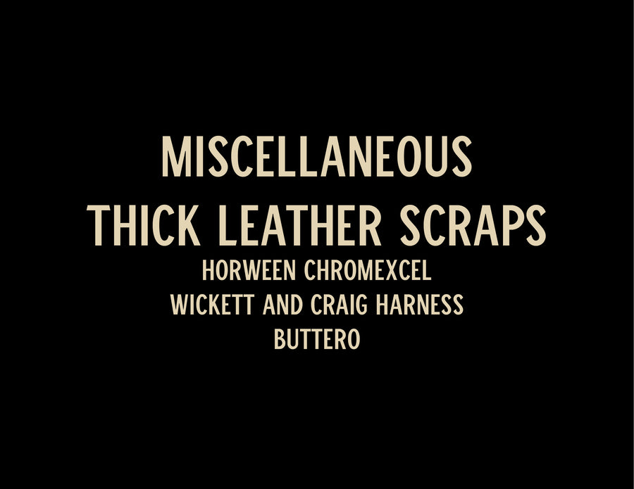 Thick Leather Scraps - 5 lb - 9+ oz  - No Free Shipping Allowed on this Item