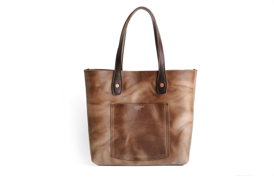 Julia Tote - Natural Chromexcel