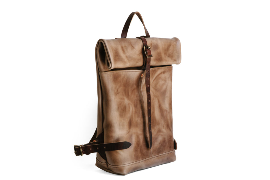Leather Ruck Sack - Natural Chromexcel