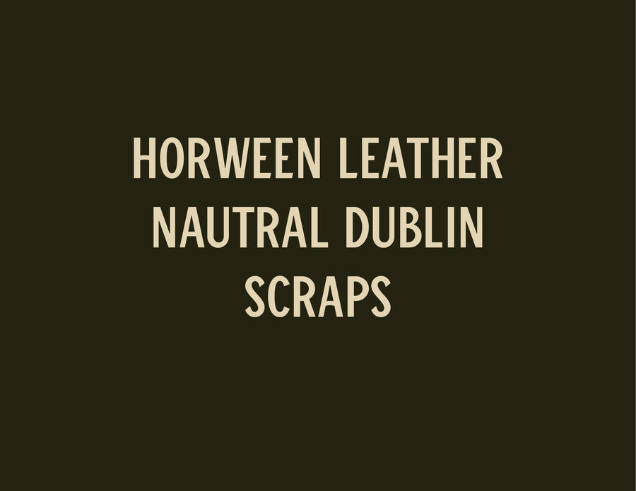 Leather Scraps - 5 lb - Natural Dublin