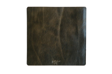 Leather Mousepad - Olive