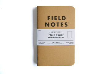 Field Notes 3-Pack - Plain Paper