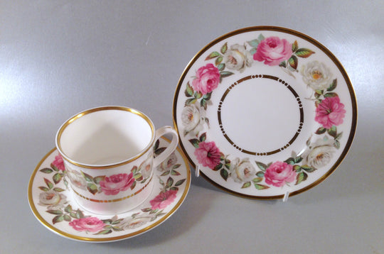Royal Worcester - Royal Garden - Dot & Dash Gold Line