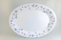 "Royal Doulton - Strawberry Fayre - Oval Platter - 13 1/2"" - The China Village"
