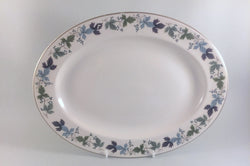 "Royal Doulton - Burgundy - Oval Platter - 13 1/4"" - The China Village"