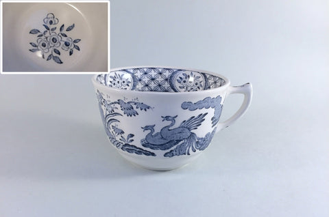 "Furnivals - Old Chelsea - Breakfast Cup - 4 x 2 5/8"" (Flower pattern in bottom of cup) - The China Village"