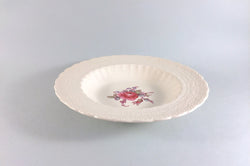 "Spode - Billingsley Rose Pink - Old Backstamp - Rimmed Bowl - 7 7/8"" - The China Village"