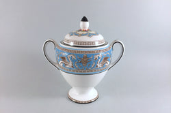 Wedgwood - Florentine - Turquoise - Lidded Sugar Bowl - The China Village