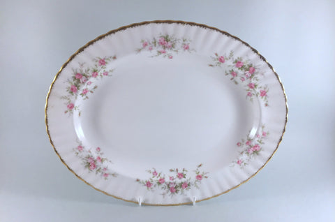 "Paragon - Victoriana Rose - Oval Platter - 13 5/8"" - The China Village"