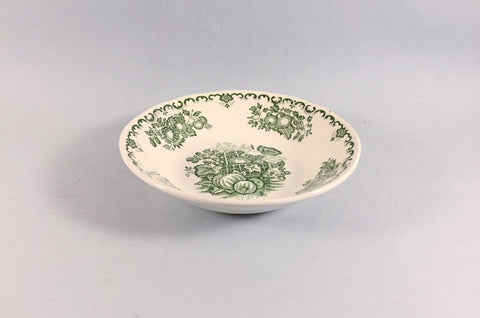 "Mason's - Fruit Basket - Green - Fruit Saucer - 5 1/2"" - The China Village"