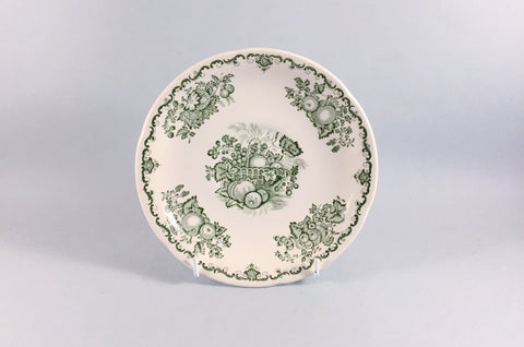 Mason's - Fruit Basket - Green - Breakfast / Soup Cup Saucer - 6 5/8""