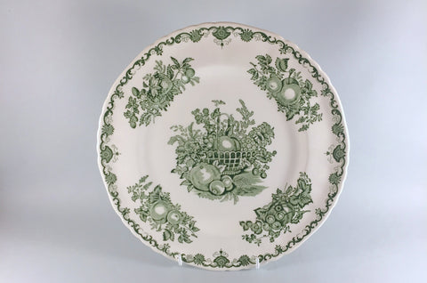 "Mason's - Fruit Basket - Green - Dinner Plate - 10 1/2"" - The China Village"
