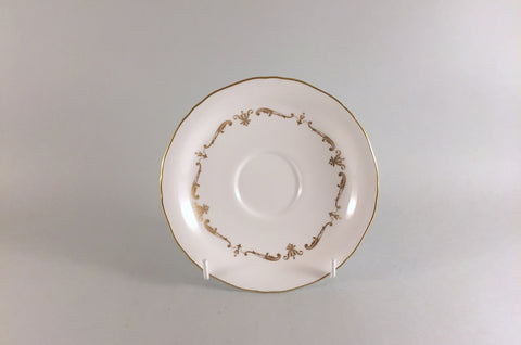 "Royal Worcester - Gold Chantilly - Tea Saucer - 5 3/4"" - The China Village"